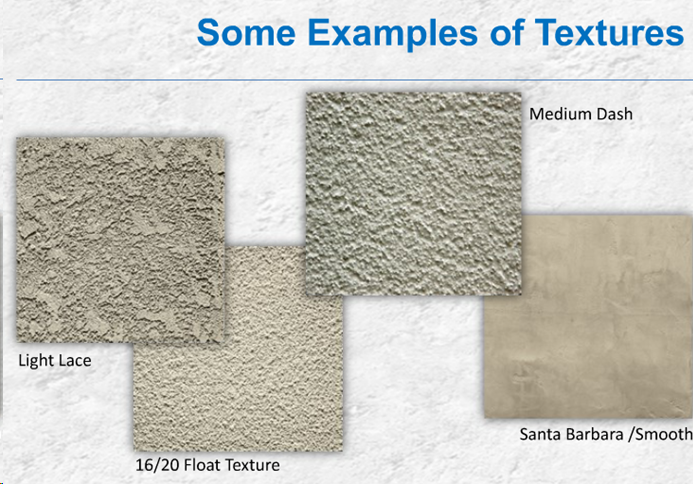 Examples of Stucco Textures